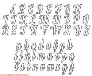 Moldes De Letras Cursivas Para Feltro E V A E Artesanatos 5