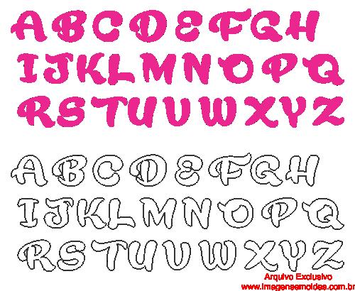 Moldes De Letras Cursivas Para Feltro E V A E Artesanatos 2 Com Pdf