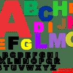 Moldes de Letras do Alfabeto para Feltro, E.V.A. e Artesanatos