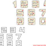 Moldes de Números – 3