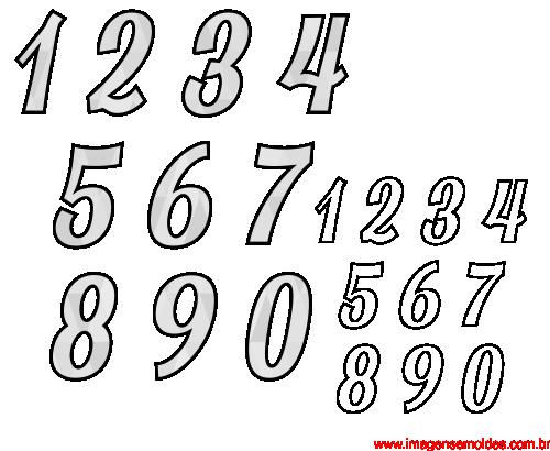 Moldes De Números