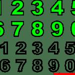 Moldes de Números para Feltro, E.V.A e Artesanatos