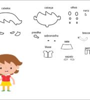 modelo de criança menina para eva-feltro e artesanatos 1