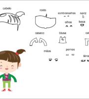 molde crianças de menina para Eva-Feltro e artesanatos 3
