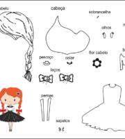 molde de criança menina para eva-feltro e artesanatos 4