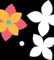 molde de flor para feltro-eva e artesanatos