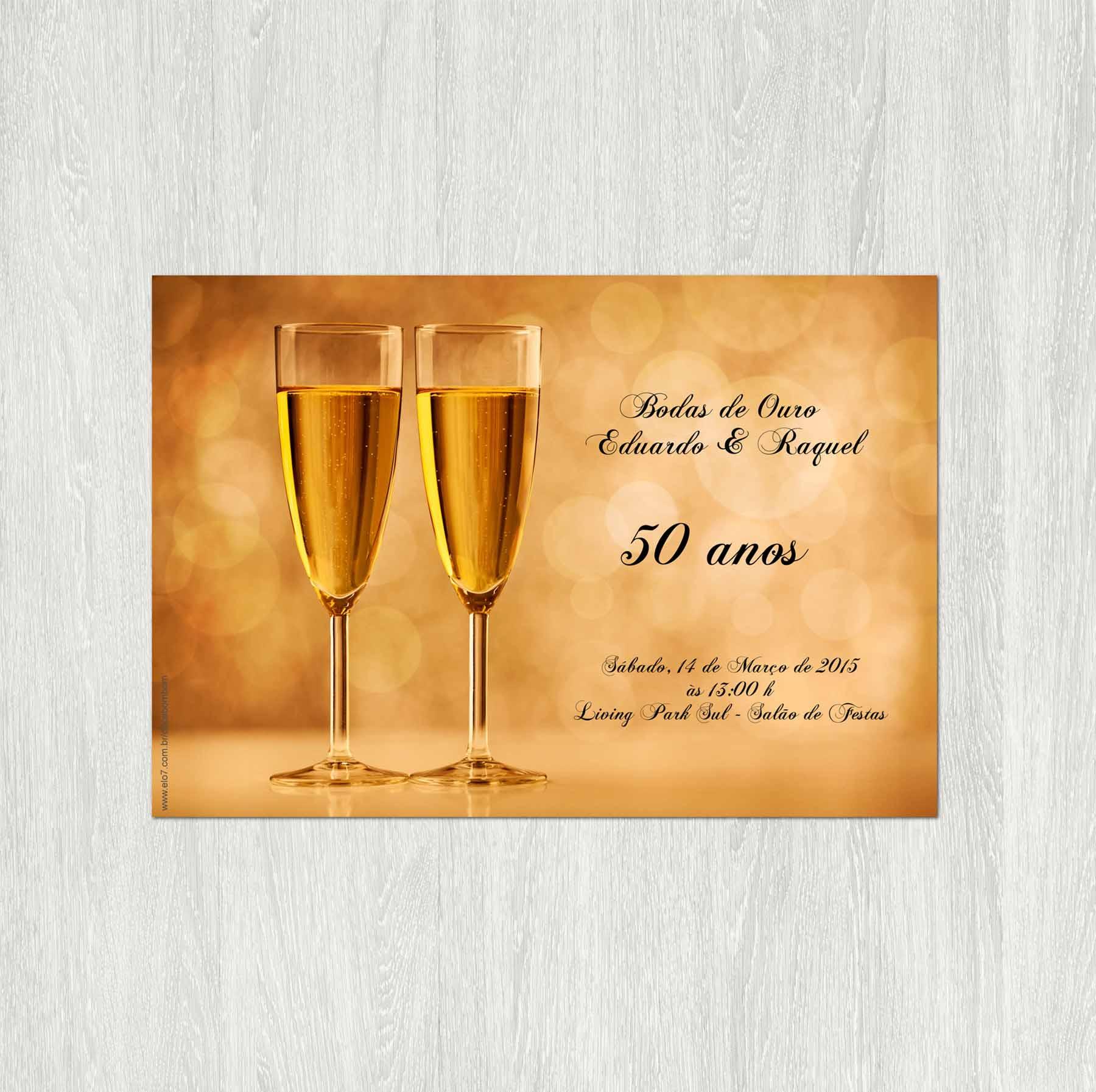 convite para bodas de ouro