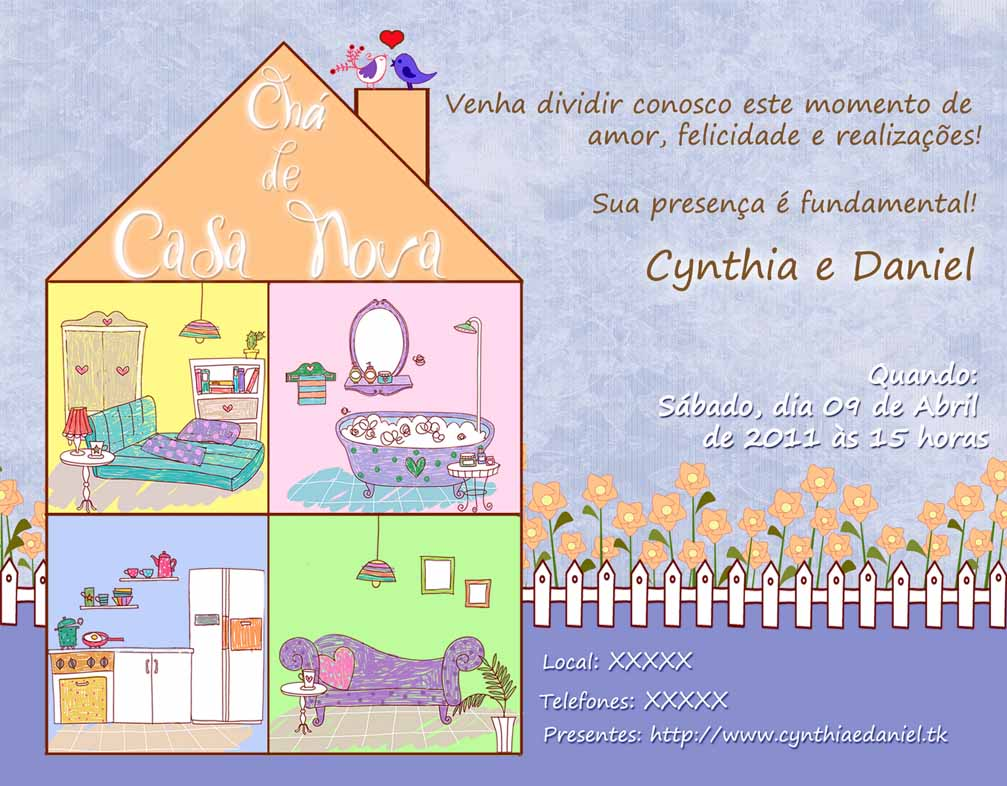 Modelos De Convites De Chá De Casa Nova