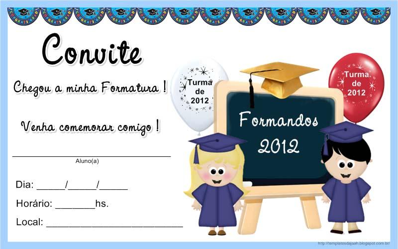 convite para formatura infantil
