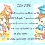 Modelos de Convites Formatura Infantil