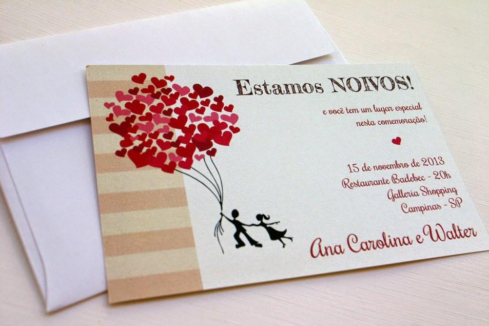 convite para noivado