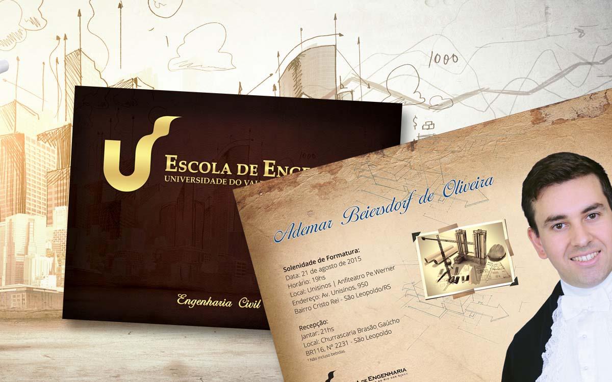 convite para formatura de engenharia