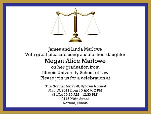 convite para formatura de direito