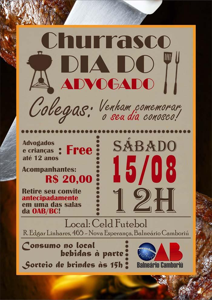 convite para churrasco