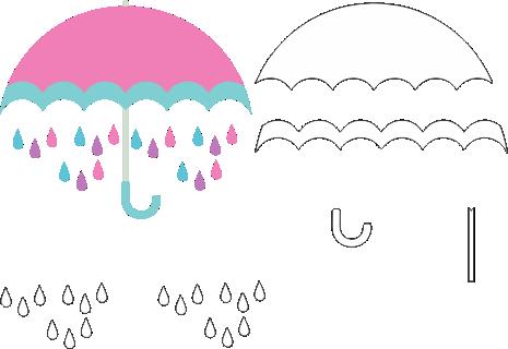 Molde Chuva de Amor EVA - Feltro e Artesanatos 3