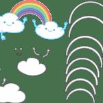 Molde Chuva de Amor Feltro – EVA e Artesanatos 4
