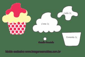 Molde Doces -Cupcake - Molde para EVA - Feltro e Artesanato