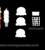 Molde Doces -Sorvete Casquinha 2 - Molde para EVA - Feltro e Artesanato