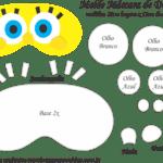 Molde Máscara de Dormir Bob Esponja – Molde para Feltro – EVA