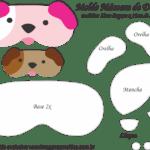 Molde Máscara de Dormir Cachorros – Molde para Feltro – EVA
