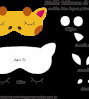 Molde Máscara de Dormir Girafa- Molde para EVA - Feltro e Artesanato