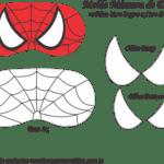 Molde Máscara de Dormir Homem Aranha – Molde Feltro e EVA