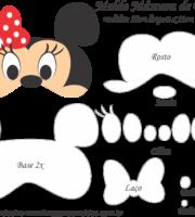 Molde Máscara de Dormir Minnie - Molde para EVA - Feltro e Artesanato