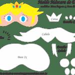 Molde Máscara de Dormir Peach Mario – Molde Feltro e EVA