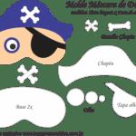 Molde Máscara de Dormir Pirata Azul – Molde para Feltro – EVA e Artesanato