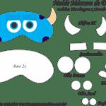 Molde Máscara de Dormir Sullivan M SA – Molde Feltro e EVA