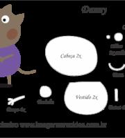Molde Peppa Pig - Danny - Molde para EVA - Feltro e Artesanato
