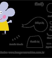 Molde Peppa Pig - Emily - Molde para EVA - Feltro e Artesanato
