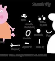 Molde Peppa Pig - Mamãe Pig - Molde para EVA - Feltro e Artesanato
