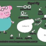 Molde Peppa Pig – Papai Pig – Molde para Feltro – EVA e Artesanato