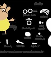 Molde Peppa Pig - Pedro - Molde para EVA - Feltro e Artesanato
