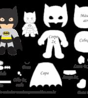 Molde Personagem - Batman - Molde para EVA - Feltro, Artesanato