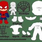 Molde Personagem – Homem Aranha – Molde para EVA – Feltro
