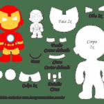 Molde Personagem – Homem de Ferro – Molde para Feltro – EVA