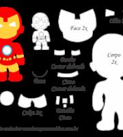 Molde Personagem - Homem de Ferro - Molde para EVA - Feltro e Artesanato