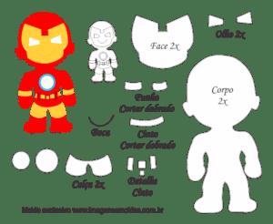 Molde Personagem Homem De Ferro Molde Para Feltro Eva