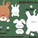 Molde Porta Caneca Cachorro – Molde para Feltro – EVA e Artesanato