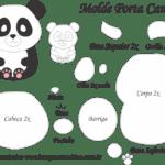 Molde Porta Caneca Panda – Molde para Feltro – EVA e Artesanato