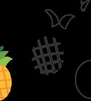 Molde de Abacaxi para EVA - Feltro e Artesanatos1