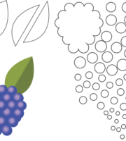 Molde de Amora para EVA - Feltro e Artesanatos1