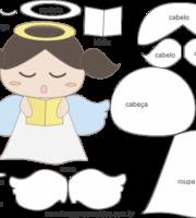 Molde de Anjinha para EVA - Feltro e Artesanatos 7