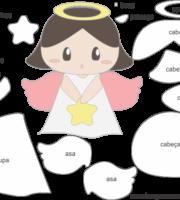 Molde de Anjinha para EVA - Feltro e Artesanatos 8