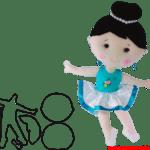 Molde de Bailarina Para E.V.A. Feltro e Artesanato – 17