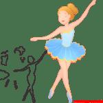 Molde de Bailarina Para E.V.A. Feltro e Artesanato – 6