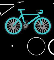 Molde de Bicicleta para EVA Feltro e Artesanato