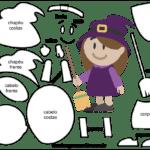 Molde de Bruxinha para Feltro – EVA e Artesanato 3